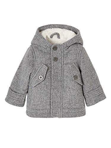 Vertbaudet Winterjacke für Baby Jungen, Kapuze grau 86