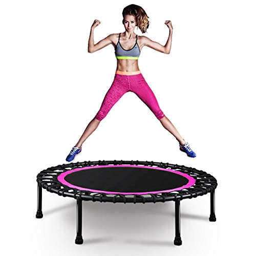 Rebounder Trampolines 40-inch Fitness Trampoline, Gym Rebounder for Home Home Cardio Fitness Rebounder Durable Silent Bounce Mini Trampoline with Premium Bungees Mini Trampolines for Adults Max 330lbs
