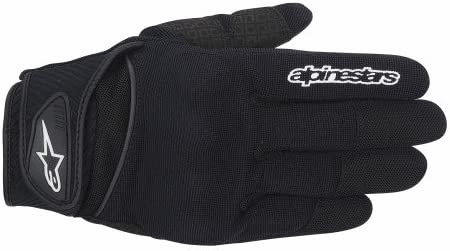 2XL Black ALPINESTARS Spartan Textile Short Cuff Motorcycle Gloves 2X-Large
