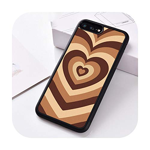 Cuty-girl - Cover in silicone per iPhone 6 6S 7 8 Plus 5 5S SE X XS XR 11 PRO MAX Latte Love Coffee Heart-For iPhone XR-