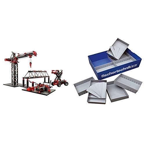 fischertechnik Experimentierbaukasten Mechanic + Static 2 - der optimale Technik Baukasten um die Grundlagen der Technik zu entdecken & Plus Box 1000, Ergänzungsset, Sortierbox