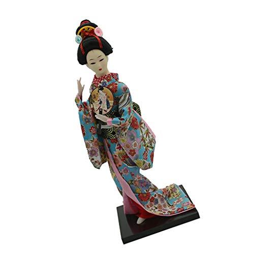 chiwanji 12in Vintage Stijl Japanse Kimono Geisha Figuur Bloemen Kleding Home Decor