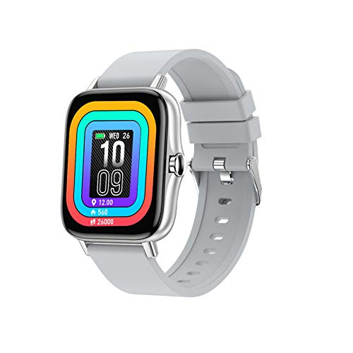 OUFUNI Smart Watch for Android and iOS Phone with Call Function, Information Reminder Fitness Activity Tracker, Heart Rate Blood Pressure Sleep Step Monitor, IP67 Waterproof Smartwatch for Women Men