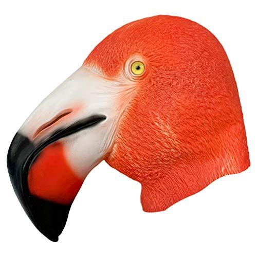 Amosfun Máscara de flamenco de látex para pájaros, disfraz de cosplay para niños y adultos