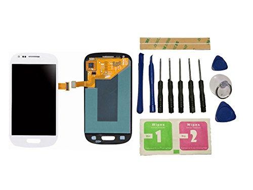 Flügel per Samsung Galaxy S3 Mini i8190 i8200 Schermo Display LCD Display Bianco Touch Screen Digitizer ( Senza Frame ) di ricambio e Strumenti Gratuiti