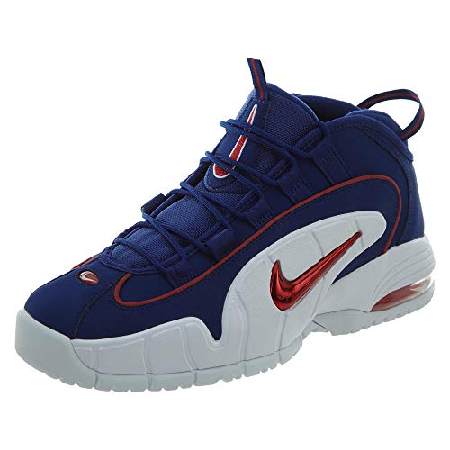 Nike Men's Air Max Penny Red and Blue Leather Sneaker 41(EU)-8(US) Multicolour -  685153_001