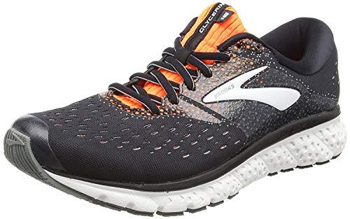 Brooks Mens Glycerin 16 Running Shoe - Black/Orange/Grey - 2E - 15.0