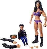 WWE Wrestlemania 37 Elite Collection Chyna Action Figure with Women's Championship and Paul Ellering and Rocco BuildAFigure Pieces6 in Posable Collectible Gift Fans Ages 8 Years Old and Up