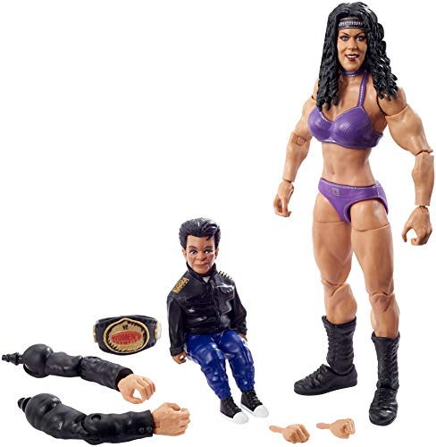 ​WWE Chyna WrestleMania Action Figure with WWE Women's Championship & Paul Ellering & Rocco Build-A-Figure Pieces, 6-in / 15.24-cm Posable Collectible Gift for WWE Fans Ages 8 Years Old & Up