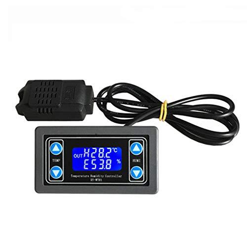F-blue Control de la Humedad del regulador del regulador de termostato higrostato la Temperatura del termómetro Digital Control del termostato higrómetro