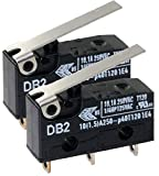 2X Cherry/ZF Electronics Db2ca1lb Micro Switch Hinge Lever Spdt 10.1a 250v No.59K9990