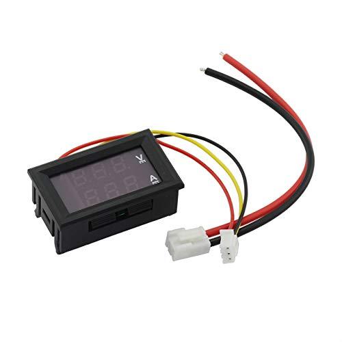 ZRM&E 0.28 Inch Mini Digital Voltmeter Ammeter DC 0-100V 10A Red Blue Dual LED Display Panel Amp Volt Current Meter 2 in 1 Tester