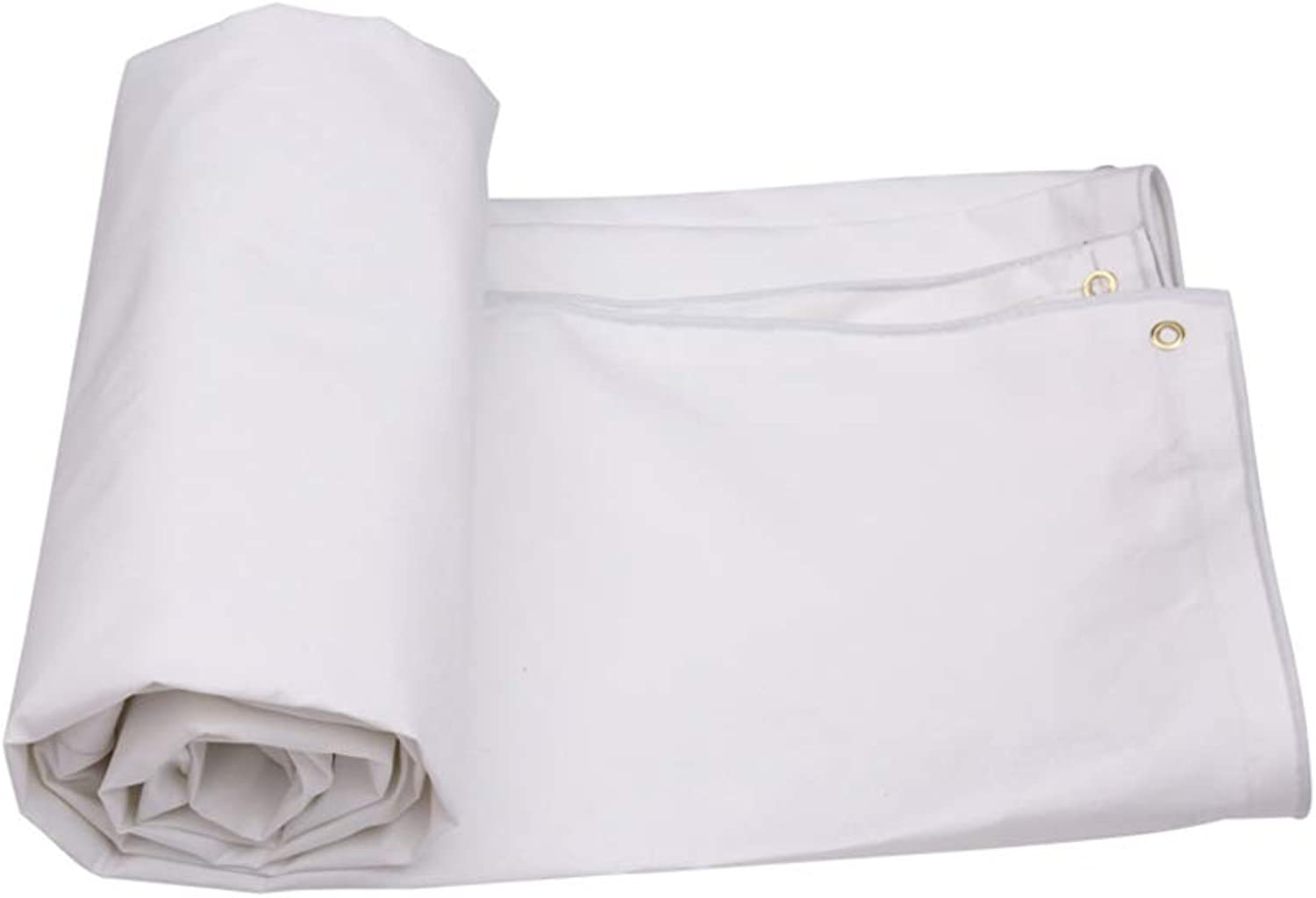 White Canvas Waterproof Tarpaulin Tarpaulin for Outdoor Picnic Vehicle Camping Site, Family Wear