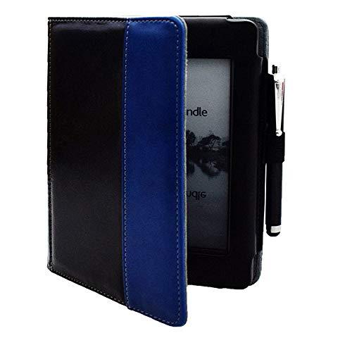 WUCHONGSHUAI Funda para Kindle,para Kindle Touch (Modelo Antiguo De 2012) D01200 Funda con Tapa Tipo Libro con Tapa - Bonita Funda para Funda Amazon Kindle Touch 2011, Modelo, Negrou