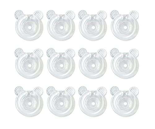Jieddey Sujeciones para Edredón,12 PCS Transparentes Clips para Edredón Soporte de Plástico Sujeta Nordico para Edredón para Mantener Edredones Gruesos de Menos 1 Pulgada