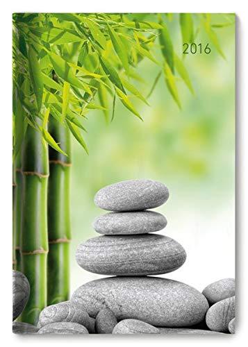 Buchkalender Zen 2016 - Bürokalender A5 / Cheftimer A5 - 1 Tag 1 Seite - 352 Seiten