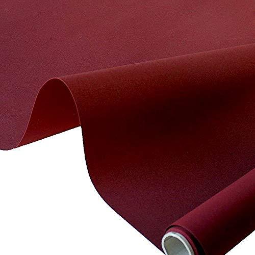 TOLKO Markisen-Stoffe einfarbig WASSERDICHT UV-beständig Meterware am Stück (Bordeaux)