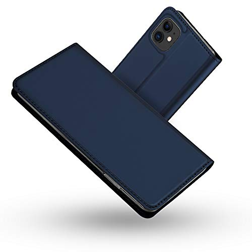 Radoo Funda iPhone 11 (6,1 Pulgadas), Slim Case de Estilo Billetera Carcasa Libro de Cuero,Carcasa PU Leather con Silicona Case Interna Suave para iPhone 11 (6,1 Pulgadas) (Azul)