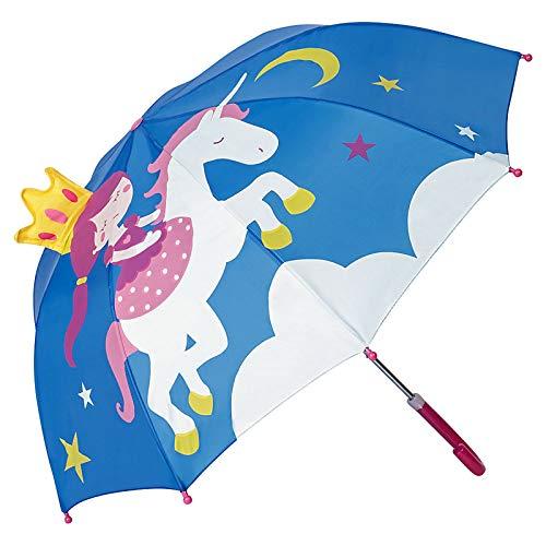 Kinder 3D Regenschirm Prinzessin & Einhorn