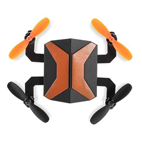 Mini Drone con CáMara WiFi CuadricóPtero Plegable Control Remoto Sin Cabeza Trayectoria De Un BotóN FáCil Volar para Entrenamiento,Orange