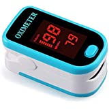 Unaan LED Fingertip Pulse Blood Oxygen SpO2 Saturation Oximeter Monitor Pulsometros (White and Blue)