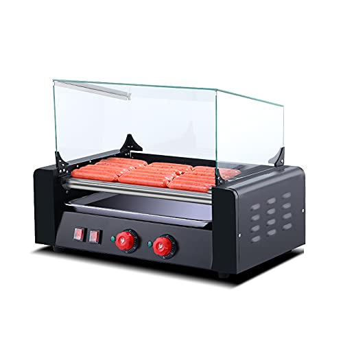of bella hot dog cookers Sausage Grill Cooker Machine, Hot Dog Roller, Countertop Hotdog Warmer, Commercial and Household Roasting Machines, Stainless Steel, Large Capacity, for Family Children Adults Use