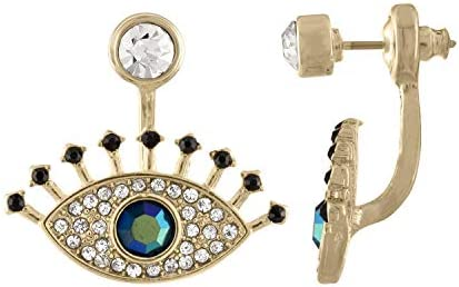 RACHEL Rachel Roy Blue Evil Eye Front Back Stud Earrings for Women Fashion product image