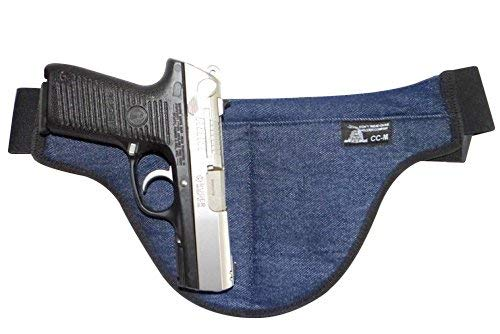 Fat Man - Medium - DTOM Denim Possum Pouch Crotch Carry Holster - The Smart Way to Carry! Fits Medium Size Guns