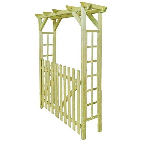 WT Trade Premium – Puerta Rose Arco Pérgola 150 x 50 x 200 cm | Madera Pino | Color Marrón | Jardín Arco Enrejado Rose Columna | Arco Escalada y Enredaderas Rank Metal Flores Pergola: Amazon.es: Jardín