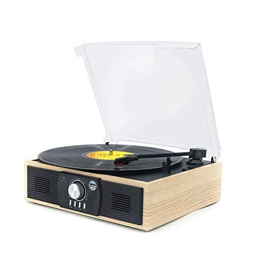 Sdesign Turnable de Bluetooth con Altavoces incorporados, transmisión de Correa de Reproductor de Vinilo, Ranura USB MP3, Cubierta de Cassette, función de digitalización