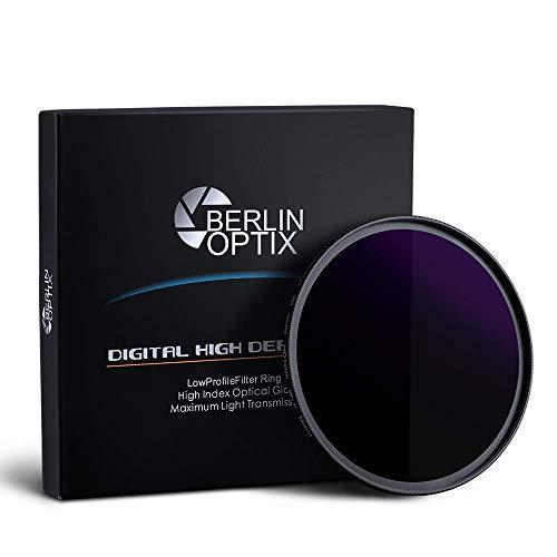 Berlin Optix Filtro Premium ND 67 mm ∙ ND1000 Filtro Gris 67 mm ∙ Absorbe efectivamente la luz incidente fotografía de paisajes y Arquitectura