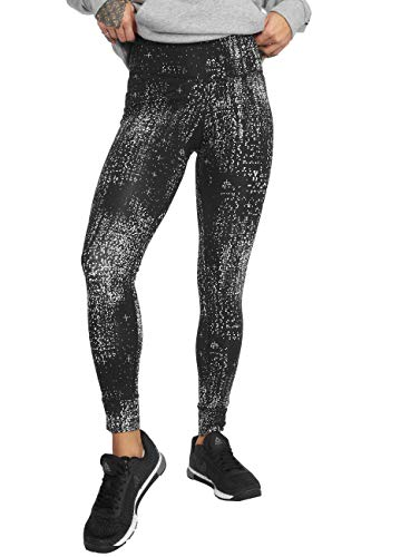Reebok Damen Tights Os Lux Data Dots Tights, Black, XS, DP5617