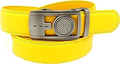 Golf Marker Ratchet Belt by The Perfect Belt (Yellow)