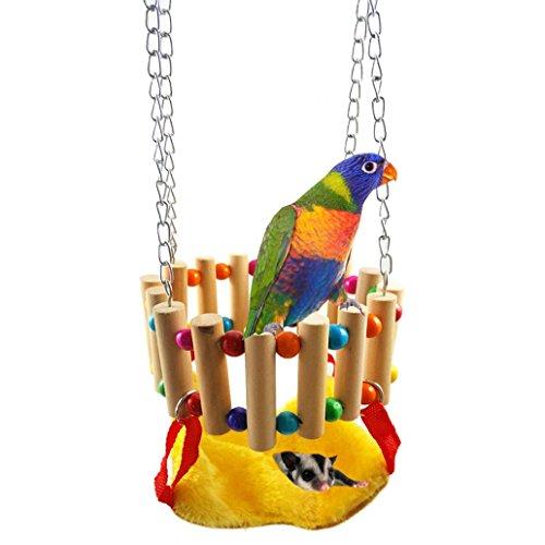 Hamster à suspendre Nid d'oiseau Swing Cage Hamac jouet pour perroquet perruche perruche Amazones Calopsittes inséparables Finch cacatoès Gris du Gabon Cage Perchoir support