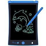 Sunany 8,5 Pulgadas Tableta de Escritura LCD, Tablet Escritura Niños,Pizarra LCD con Teclas Borrables y Bloqueo de Pantalla, Adecuada para el hogar, Escuela, Oficina(Azul)