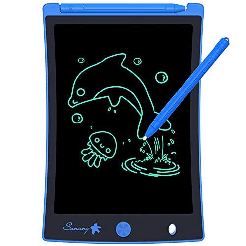 Sunany LCD Schreibtafel 8.5 Zoll, Zeichentafel für Kinder,Löschbare Elektronische Digitale Zeichenblock Writing Tablet, Geschenk für Kinder Erwachsene Home School Office (Blau)