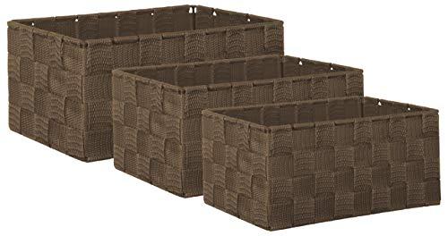 Brandsseller Aufbewahrungsbox Dekobox - Rattan-Optik - 3er-Set braun