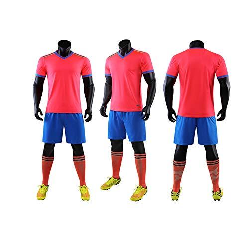 CJM Traje de fútbol para Adultos (Rojo)