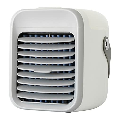 YGTMV Condizionatore Portatile,con 3 velocità Condizionatori d'Aria Ventilatore, Mini Raffreddatore d'Aria con 7 LED Colori,per Ufficio Camera,Bianca