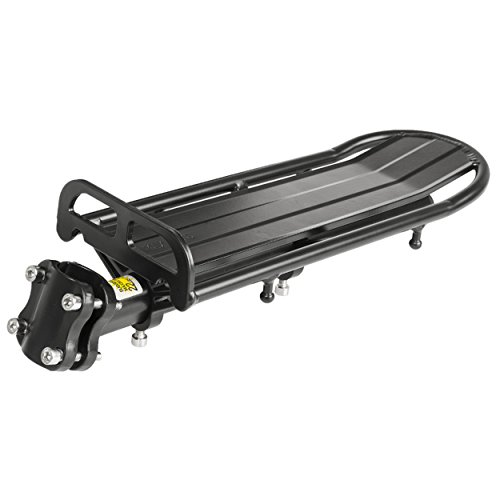 CAGO Sonstige Aluminium Screw-on Flex Gepäckträger, schwarz, One Size