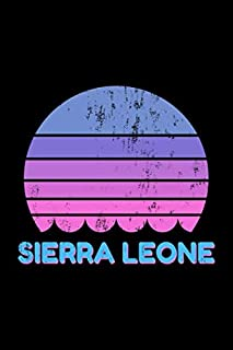 Sierra Leone: Vintage World Travel Keepsake Blank Lined Journal Notebook