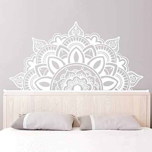 Ajcwhml Media Mandala Apliques cabecero Art Deco Estudio de Yoga Etiqueta de la Pared Dormitorio Principal decoración para el hogar 138 cm x 70 cm