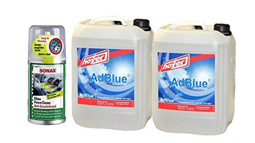 Adblue 2x 10L Bidón de hoyer con boquilla para Audi, VW, MB de + Air Power Cleaner Green Lemon