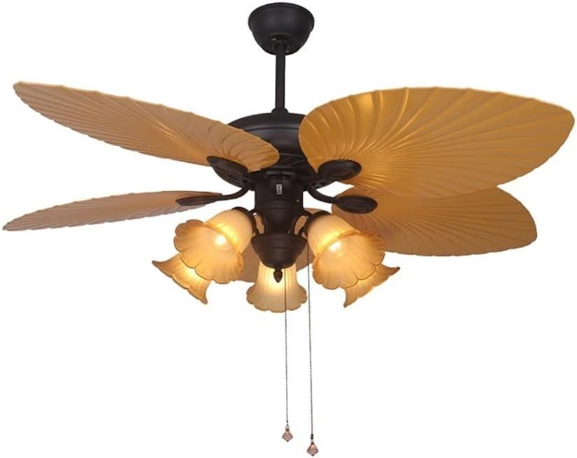 Ventiladores para el Techo con Lámpara Luces de ventilador de techo de 52