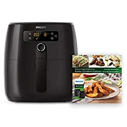 Image of Philips Premium Digital Airfryer with Fat Removal Technology + Recipe Cookbook, 3 qt, Black, HD9741/99: Bestviewsreviews