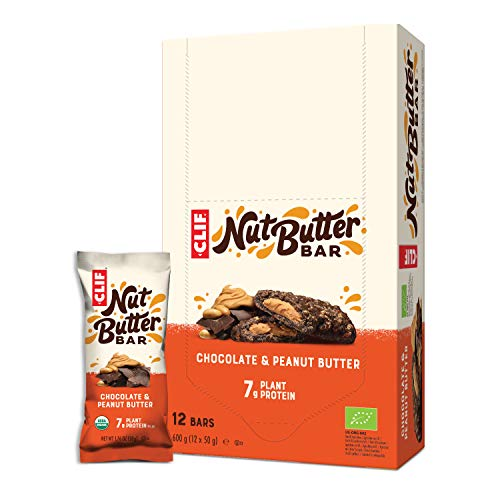 CLIF Barrita Energética De Chocolate Rellena De Crema De Cacahuete Bio - Clif - 68 G (Caja 12 Uds - Total: 816 G) , 12 x 50.00 g