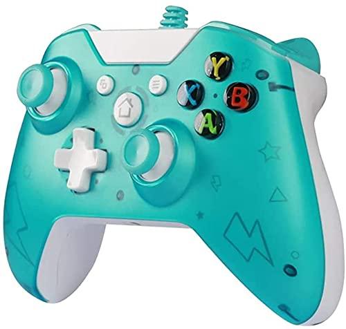 MOCHENG Controlador de control con cable USB para Xbox One Consola Slim Dual Vibration Handle Gamepad para PC Joystick para Win7/8/10 Controlador con cable Dual Vibration Shock Game Handle