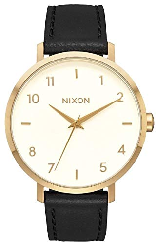 Nixon Damen Analog Quarz Smart Watch Armbanduhr mit Leder Armband A1091-2769-00