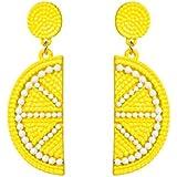 SENNI Cute Fruit Lemon Strawberry Watermelon Stud dangle Earrings Drop Earrings For Women Girls Gift Jewelry