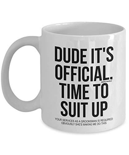 N\A Regalos de la propuesta de los Padrinos de Boda para la Boda, Hora de vestirse, Tazas de café, Tazas de té, wm3655